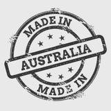 Robić w Australia pieczątce odizolowywającej na bielu ilustracji