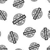 Robić w Australia stemplowym bezszwowym deseniowym tle Biznes fl ilustracji