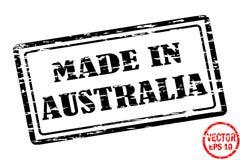 Robić w Australia - szablon grunged czarnego kwadrata znaczek dla biznesu odizolowywającego na białym tle ilustracja wektor