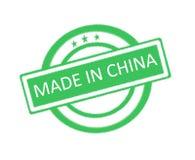 Robić w Chiny pisać na zielonej pieczątce Obrazy Royalty Free