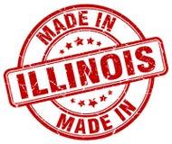 Robić w Illinois znaczku royalty ilustracja
