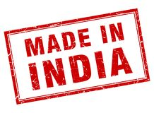 robić w India znaczku ilustracja wektor