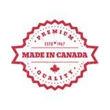 Robić w Kanada, wektorowa odznaka, round etykietka royalty ilustracja