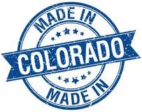 Robić w Kolorado round błękitnym znaczku royalty ilustracja