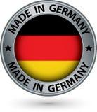 Robić w Niemcy srebra etykietce z flaga, wektorowa ilustracja ilustracja wektor