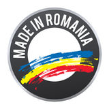 Robić w Rumunia etykietki odznaki logu poświadczającym Obraz Stock