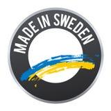 Robić w Szwecja etykietki odznaki logu poświadczającym Zdjęcia Stock