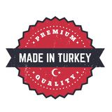 Robić w Turcja, rocznik odznaka, wektorowa etykietka ilustracja wektor