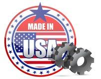 Robić w USA i przekładniach stempluje ilustrację Obraz Stock