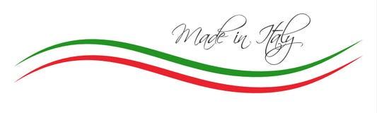 Robić w Włochy symbolu, barwiony faborek z Włoskimi kolorami ilustracja wektor