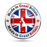 Robić w Wielkim Brytania, premii ilość - błyszczący elegancki guzik ilustracji