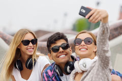 Robić wielkiemu selfie fotografia stock