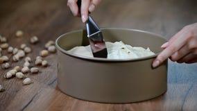 Robić wyśmienicie pistacjowemu cheesecake, mousse tort zbiory wideo