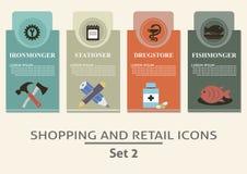 Robić zakupy i handlu detalicznego etykietki Obrazy Royalty Free