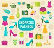 Robić zakupy i mody tło - ilustracja ilustracja wektor