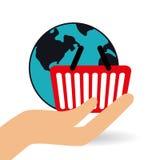Robić zakupy online projekt, wektorowa ilustracja Obraz Royalty Free