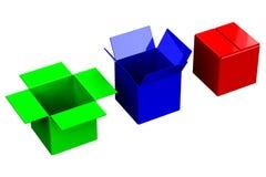 Robić zakupy pudełka ilustracja wektor
