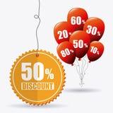 Robić zakupy specjalne oferty, rabaty i promocje, ilustracja wektor
