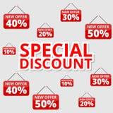 Robić zakupy specjalne oferty, rabaty i promocje, specjalny rabat royalty ilustracja