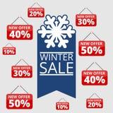 Robić zakupy specjalne oferty, rabaty i promocje, zimy sprzedaż ilustracja wektor