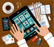 Robić zakupy w online sklepie ilustracji