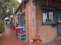 Robić zakupy w Starym miasteczku Albuquerque z swój wiele galeriami w Nowym - Mexico usa fotografia royalty free