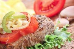 robić zamknięty hamburgeru dom Obraz Royalty Free