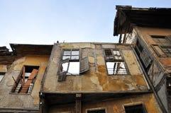 Robić zawalony budynek tworzy kamień i drewno Obraz Stock