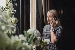 Robić Znacząco rozmowie telefonicza Obrazy Royalty Free