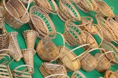 Robić bambusów kijami Obrazy Royalty Free