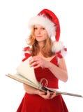 robić chybienie papierowej Santa pracie Fotografia Royalty Free