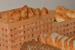 Robić croissant i chleb Zdjęcia Stock