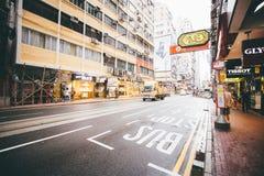 Robiący zakupy na droga na grobli zatoce w Hong Kong, Chiny Zdjęcia Royalty Free
