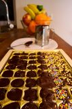 Robić czekoladzie w domu Obrazy Stock
