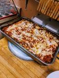 robić domowy lasagna obraz royalty free