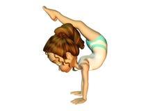 robić dziewczyn gimnastykom Fotografia Royalty Free