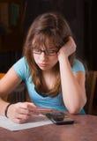 robić dziewczyny pracie domowej Zdjęcia Stock