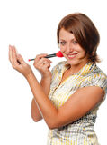 robi dziewczyny robi ja target1002_0_ uśmiechać się Zdjęcia Stock