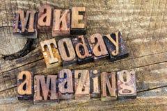 Robi dzisiaj zadziwiać inspiraci letterpress Fotografia Royalty Free