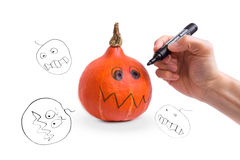 Robić Halloweenowej bani Obraz Stock