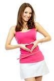 robi kobiet target400_0_ potomstwom dorosły serce Fotografia Stock