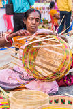 Robić kolorowym trzcina koszom Zdjęcia Royalty Free