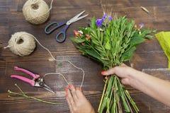 Robić kwiatu wielo- barwiony bukiet Obraz Stock