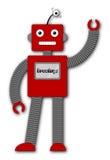 Robi le rétro robot - salutations Image stock