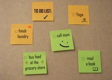 ` robić listy ` Kleistym notatkom Obrazy Stock