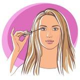 robić makeup kobiety Obrazy Stock