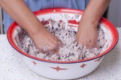 Robić masie dla tamales Obraz Stock
