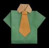 Robić odosobniony papier zielona koszula. Zdjęcie Royalty Free