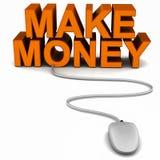 Robi pieniądze online ilustracja wektor