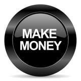 Robi pieniądze ikonie Fotografia Stock